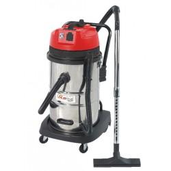 Aspirateur eau et poussière 1000w 50L inox + prise machine