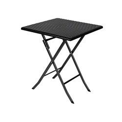 TABLE PLIANTE - IMITATION ROTIN - 62 x 62 x 73.5 cm