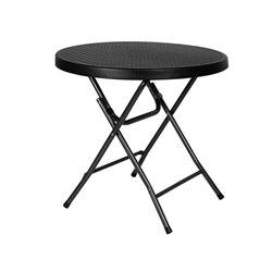TABLE RONDE PLIABLE - IMITATION ROTIN - Ø 80 x 74 cm
