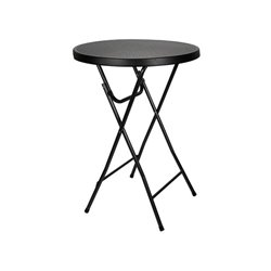 Table Pliante - Imitation Rotin - Ø80X110Cm