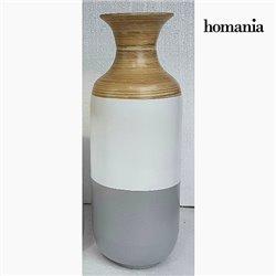 Vase bambou gris blanc by Homania