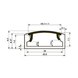 Profilé En Aluminium Pour Flexibles Led - Plat / Large - Diffuseur Transparent - 2 M