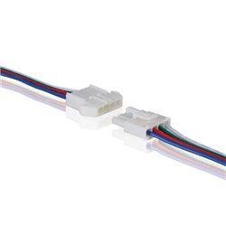 Connecteur Pour Flexible Led Rvb Avec Câble (Mâle-Femelle)
