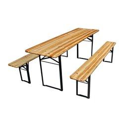 Table - Avec 2 Bancs - 220 X 80 X 76 Cm