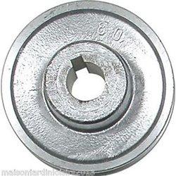 Poulies en aluminium. Axe 19 mm Poulie 80 mm