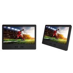 """Mtw-1085Twin - Lecteur Dvd Portable Avec Écran Lcd 10.1"""" + Écran Supplémentaire"""