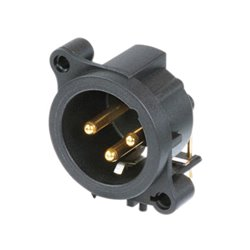 Neutrik - Xlr Mounting Connector, 3-Pin Male, Separate Ground Contact