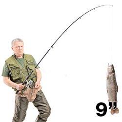 Ensemble canne à pêche 2,70 m/9 pouces