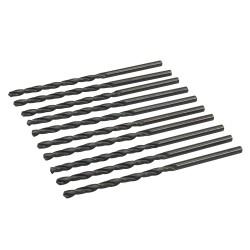 Jeu de 10 mèches longues en acier rapide HSS - 5,5 x 139 mm