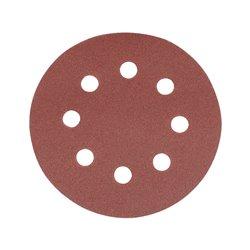 Lot de 10 disques abrasifs auto-agrippants perforés 115 mm