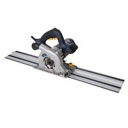 Scie circulaire plongeante compacte 110 mm avec kit rail de guidage