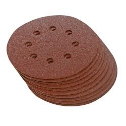 10 disques abrasifs perforés auto-agrippants 125 mm - Grain 60