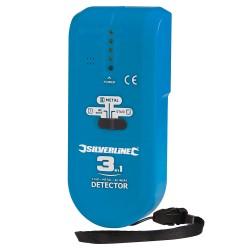 Détecteur 3 en 1 compact - 1 pile 9 V (PP3)
