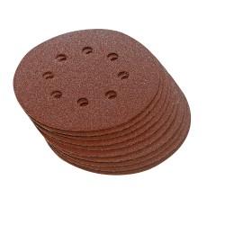 10 disques abrasifs perforés auto-agrippants 115 mm - Grain 60