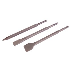 3 burins 6 pans emmanchement SDS-Plus - 15 mm