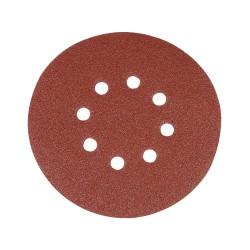 10 disques abrasifs perforés auto-agrippants 150 mm - Grain 80