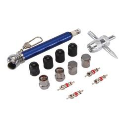 Coffret 14 pièces de réparation de pneus - 0,6 - 3,5 bar