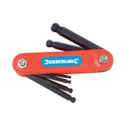 Monture de 7 clés mâles métriques à tête sphérique - 2,5 - 10 mm