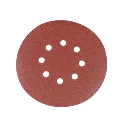 Lot de 10 disques abrasifs auto-agrippants perforés 150 mm