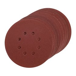 Lot de 10 disques abrasifs auto-agrippants 150 mm - Grain 240