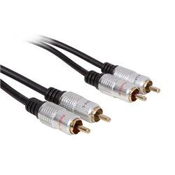 2 X Fiche Audio Rca Vers 2 X Fiche Audio Rca / Standard / 10.0 M / Doré