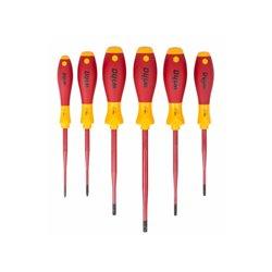 Wiha - Jeu De Tournevis Softfinish® Electric Slimfix Torx® Tamper Resistant - 6 Pcs