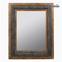 Miroir Carré Bronze Argent - Collection Vintage by Homania