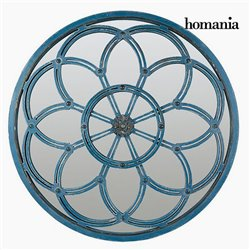 Miroir Rond Bleu - Collection Modern by Homania