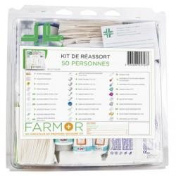Kit de réassort pour armoire à pharmacie « Multirisques » 50 personnes