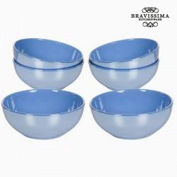 Ensemble de bols Vaisselle Bleu (6 pcs) - Collection Kitchen's Deco by Bravissima Kitchen
