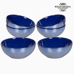 Ensemble de bols Vaisselle Blue marine (6 pcs) - Collection Kitchen's Deco by Bravissima Kitchen