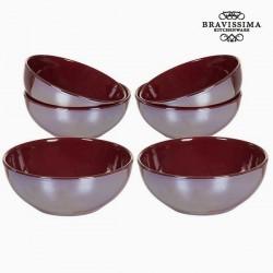 Ensemble de bols Vaisselle Bordeaux (6 pcs) - Collection Kitchen's Deco by Bravissima Kitchen