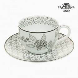 Tasse avec sous-tasse Porcelaine Imprimé - Collection Queen Kitchen by Bravissima Kitchen