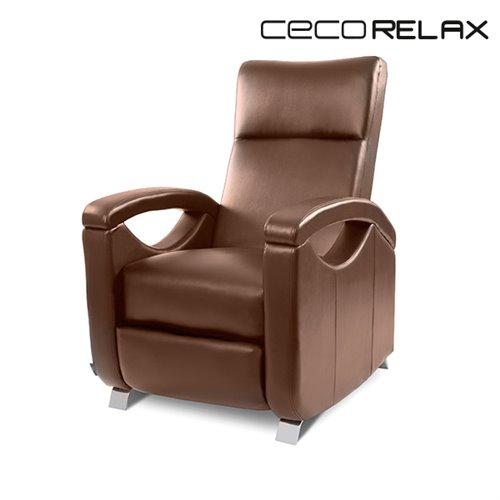 Fauteuil relax masseur push back marron cecorelax 6027 - Fauteuil relax marron ...