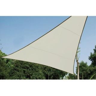 Voile Solaire - Triangle - 3.6 X 3.6 X 3.6 M - Couleur: Crème