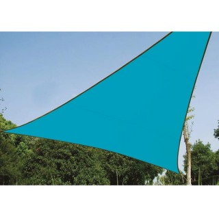 Voile Solaire - Triangle - 3.6 X 3.6 X 3.6 M - Couleur : Bleu Ciel