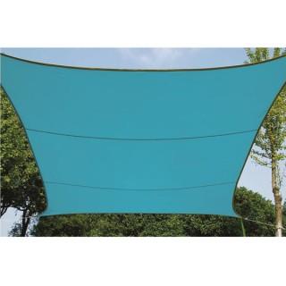 Voile Solaire - Carré - 5 X 5 M - Couleur : Bleu Ciel