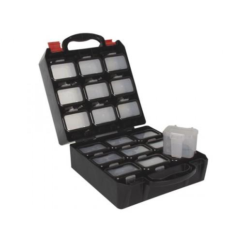 coffret a outils en plastique avec 18 compartiments de. Black Bedroom Furniture Sets. Home Design Ideas