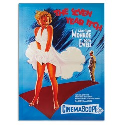 Poster Tableau Cinéma Marilyn Monroe The Seven Year Itch 50 x 70 cm