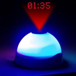 Horloge Réveil avec Lumière Led et Projecteur