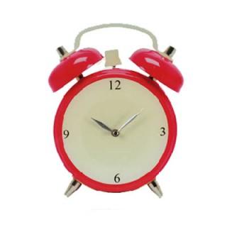 Horloge Murale en Verre Réveil - Rouge