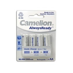 NiMH AA/R6 1.2V-2300mAh (4/carte) 'ALWAYSREADY™'