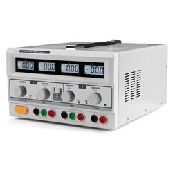 DOUBLE ALIMENTATION DC LAB / 4 AFFICHEURS LCD / 2 x 0-30 VCC / 0-3 A + 5 VCC fixe 3 A MAX