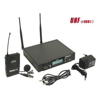 MICROPHONE PLL UHF TRUE DIVERSITY SANS FIL À 8 CANAUX - ÉMETTEUR BODY-PACK + MICRO-CRAVATE