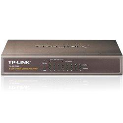 TP-LINK - COMMUTATEUR POE DE BUREAU - 4 x POE & 4 x PORTS RÉSEAU - 10/100M