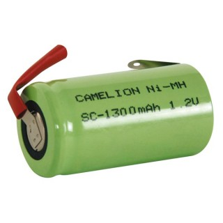 ACCU NI-MH 1.2V-1.3Ah AVEC COSSES A SOUDER (vrac)