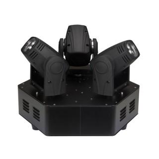 TRIMO 310 - PROJECTEUR LYRE À 3 TÊTES  - 3 x LED BLANCHE DE 10 W