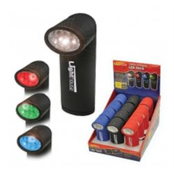 Mini Torche 6 Led / 4 Couleurs