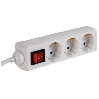 Bloc Multiprises, 3 Prises + Interrupteur, 3 X 1.5 Mm²