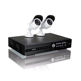 Système De Vidéosurveillance Hd - 4 Canaux - 2 Caméra'S Ir - Push Video& Status - Ivs